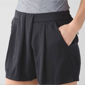 Lululemon Black Pleated Shorts